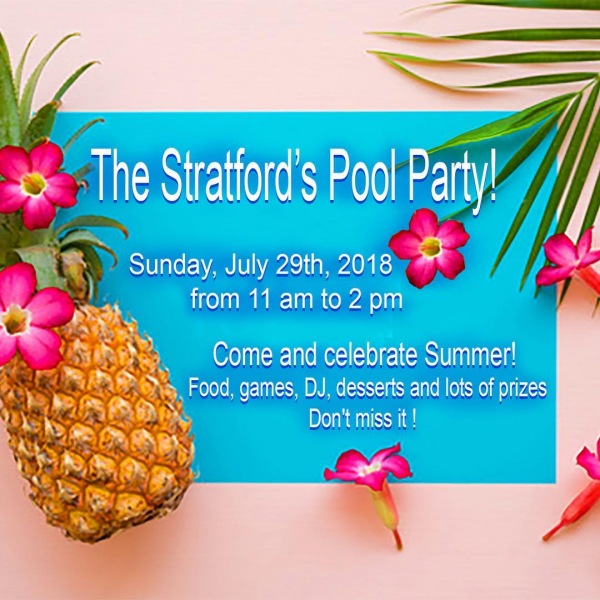 #thestratfordapartments is having a Pool Party this Sunday, July 29th from 11 am to 2 pm! Join us at the #pool for some fun and games! Another reason #thestratfordliving is the best living! #kendallapartments #poolparty #residentretention #residentevents #kendallapartments #apartmentsforrent #510management 305.271.4884